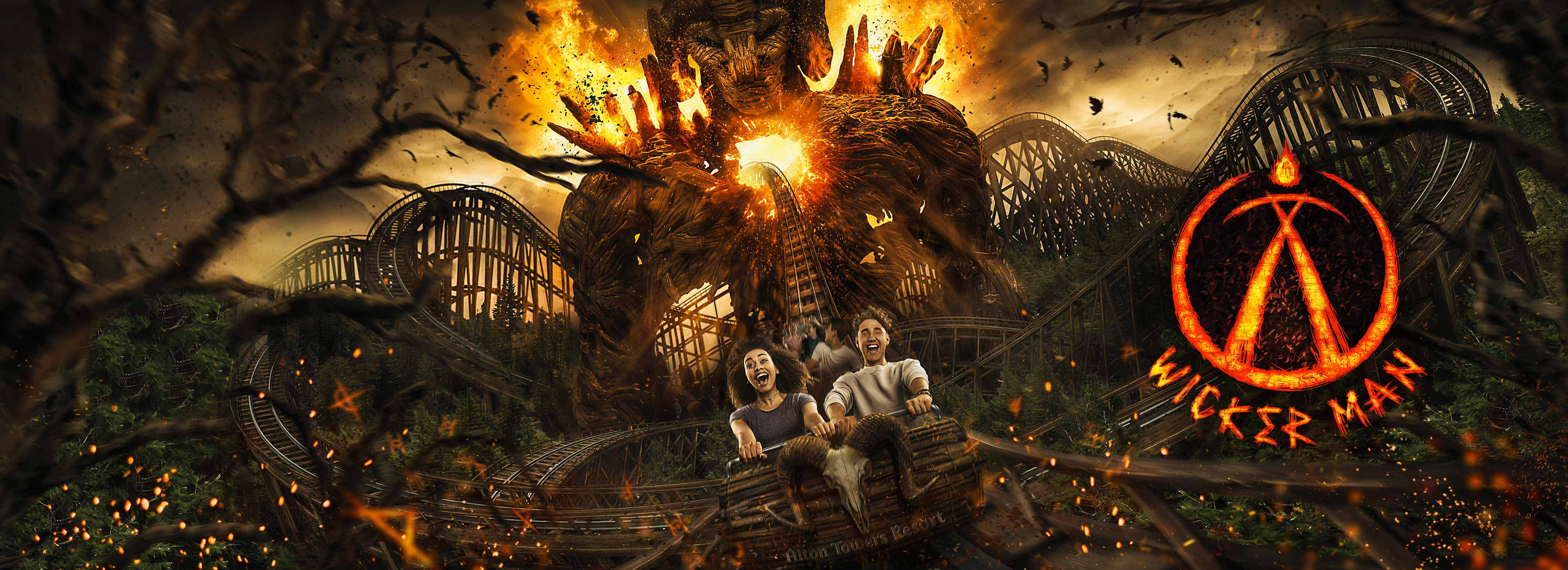 Wicker Man at Alton Towers Resort