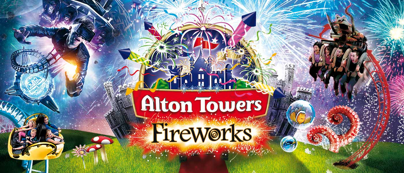 Fireworks at Alton Towers Resort