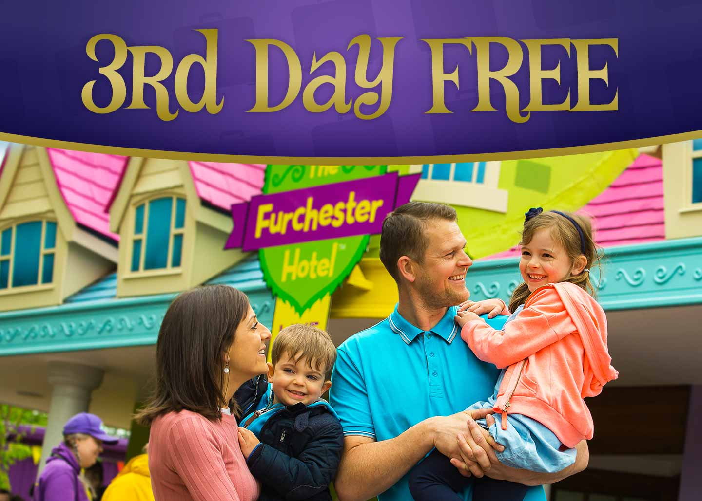 3rd Day FREE entry into the Theme Park with Alton Towers Holidays