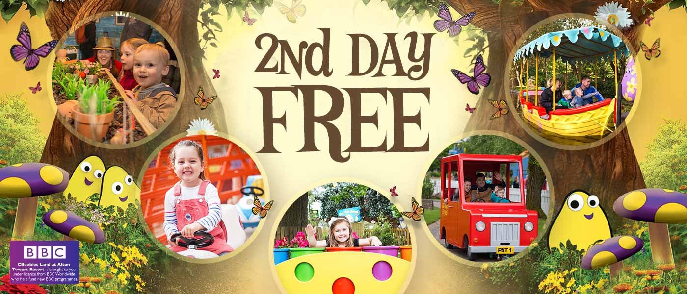 2nd Day FREE at the Alton Towers Resort