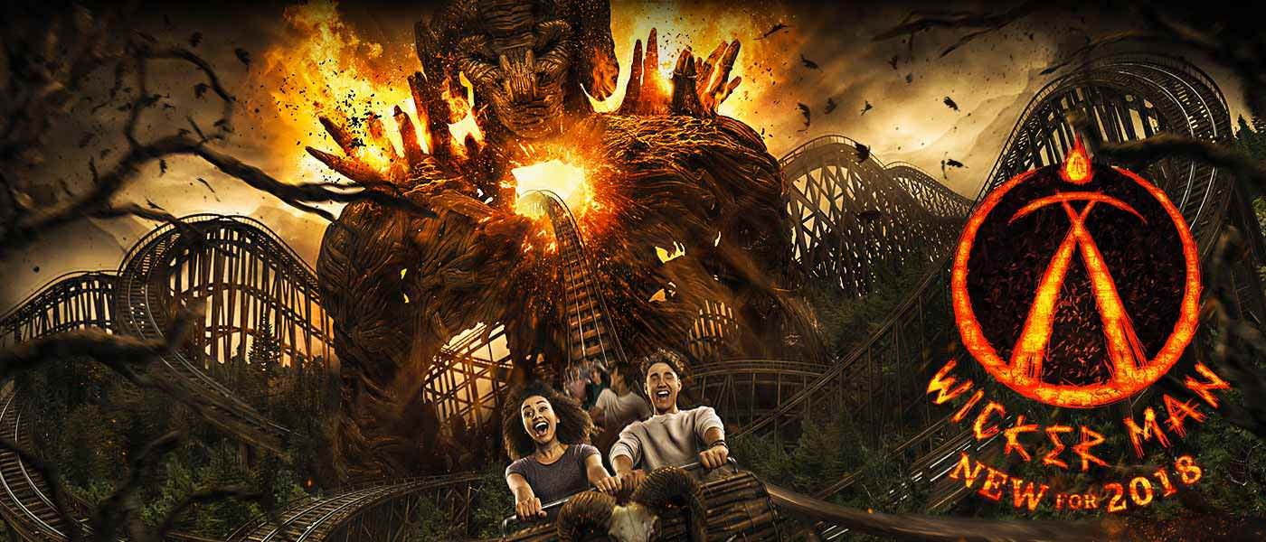 Wicker Man at Alton Towers Resort, new for 2018!