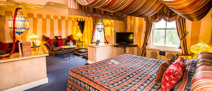 Arabian Nights room at the Alton Towers Resort Hotel